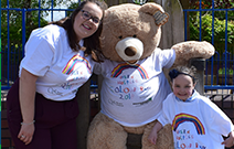 A colourful surprise for six-year-old Lacie